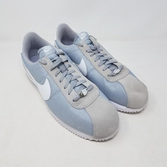 newest c0040 72040 Nike Cortez Basic Nylon Wolf Grey Silver Men US 11